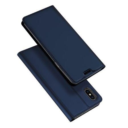 Dux Ducis -  iPhone XS Max Hülle - Case aus Leder - Skin Pro Series - blau