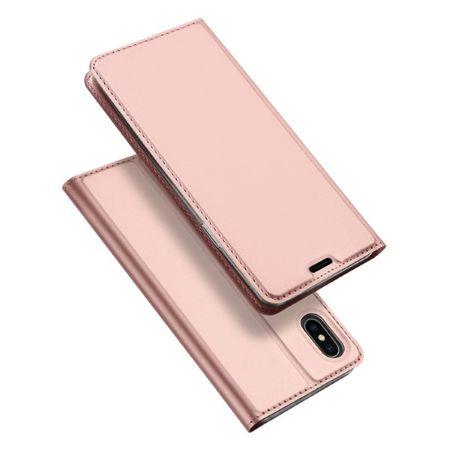 Dux Ducis -  iPhone XS Max Hülle - Case aus Leder - Skin Pro Series - rosegold