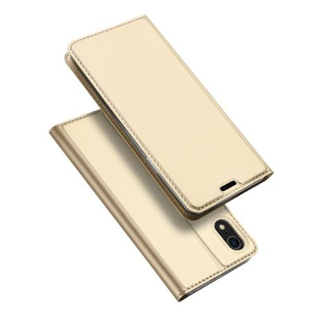 Dux Ducis -  iPhone XR Hülle - Handy Bookcover - Skin Pro Series - gold