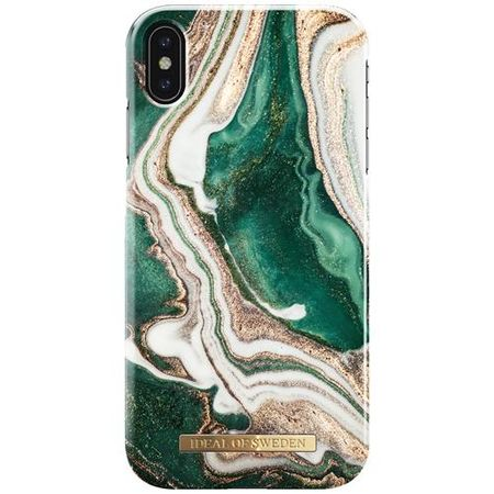 iDeal of Sweden - iPhone XS Max Hülle, Designer Case Golden Jade Marble - mehrfarbig