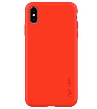 Araree - iPhone XS / X Hülle - Case aus TPU Plastik - A-Fit Series - rot