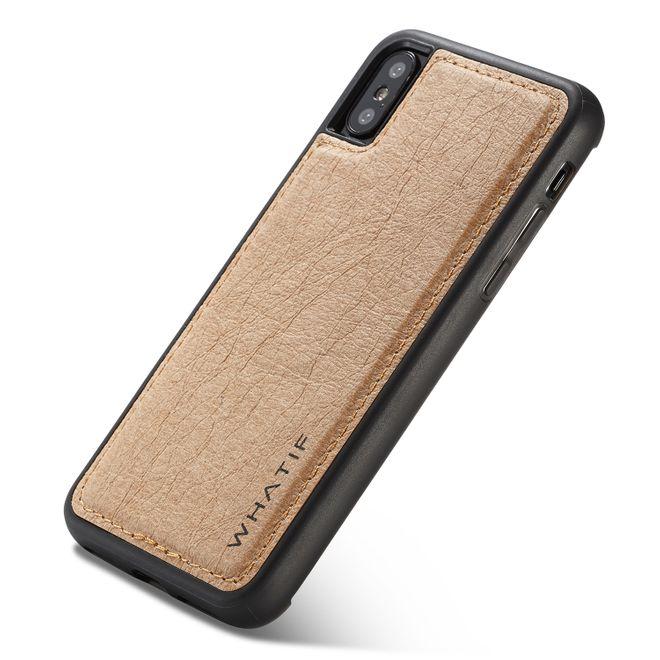 Caseme Caseme - iPhone XS / X Handyhülle - Hardcover aus Plastik - Do it Yourself - braun