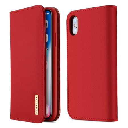 Dux Ducis - iPhone XS / X Hülle - Case aus Leder - Wish Series - rot