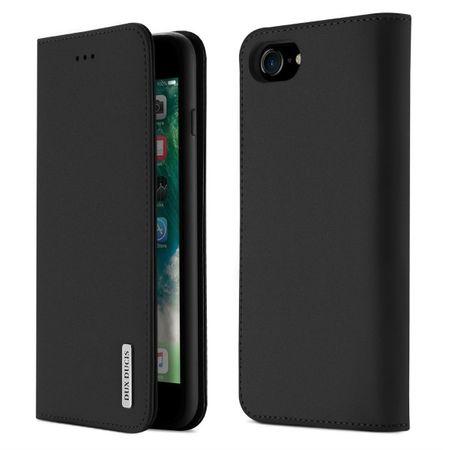 Dux Ducis - iPhone 8 / 7 Hülle - Case aus Leder - Wish Series - schwarz