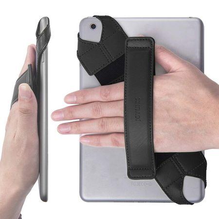 Joylink - Universelle Tablet Halterung (kompatibel mit 7.9 - 8.4 Zoll Tablets) - mit Handschlaufe + 360 Grad Drehfunktion - schwarz