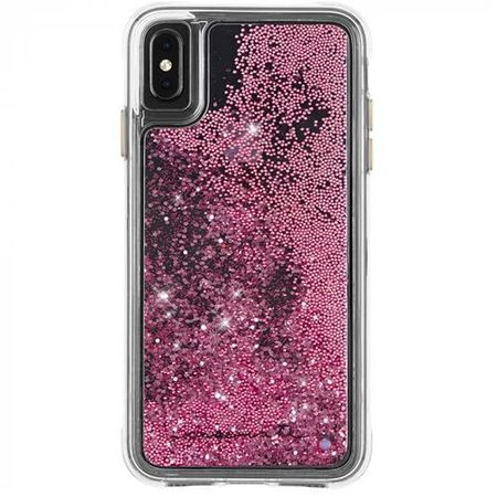 Case-Mate - iPhone XS Max Hülle - Liquid Glitter Backcover - WATERFALL - rosegold