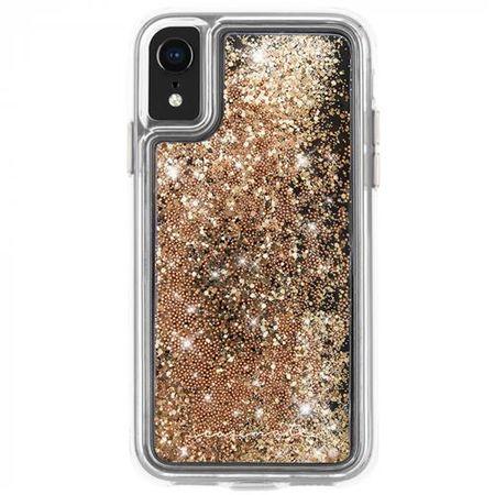 Case-Mate - iPhone XR Hülle - Liquid Glitter Backcover - WATERFALL - gold