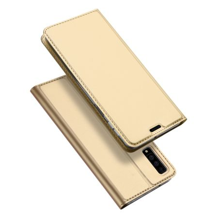 Dux Ducis -  Samsung Galaxy A7 (2018) Hülle - Handy Bookcover - Skin Pro Series - gold