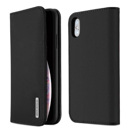 Dux Ducis - iPhone XS Max Hülle - Case aus Leder - Wish Series - schwarz