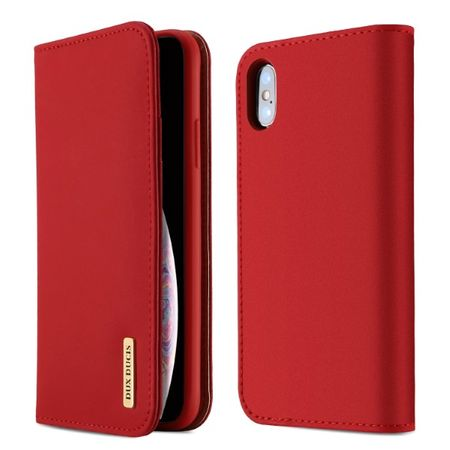 Dux Ducis - iPhone XS Max Hülle - Case aus Leder - Wish Series - rot