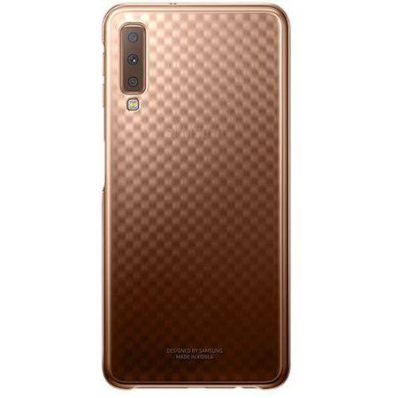Samsung - Original Galaxy A7 (2018) Hülle - Gradation Hard-Cover - EF-AA750CFEG - gold