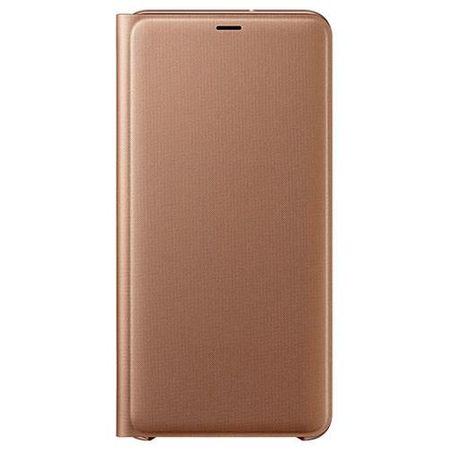 Samsung - Original Galaxy A7 (2018) Hülle - Wallet Bookcover - EF-WA750PFEG - gold