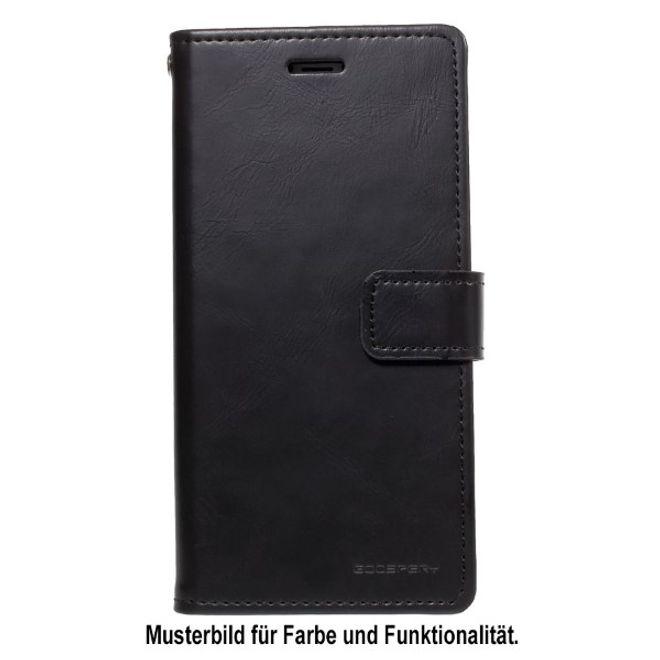 Goospery Goospery - Google Pixel 3 XL Handy Hülle - Case aus Leder - Bluemoon Diary Series - schwarz
