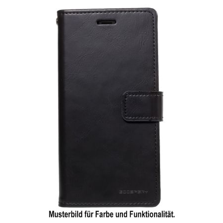 Goospery - Huawei Mate 20 Pro Handy Hülle - Case aus Leder - Bluemoon Diary Series - schwarz