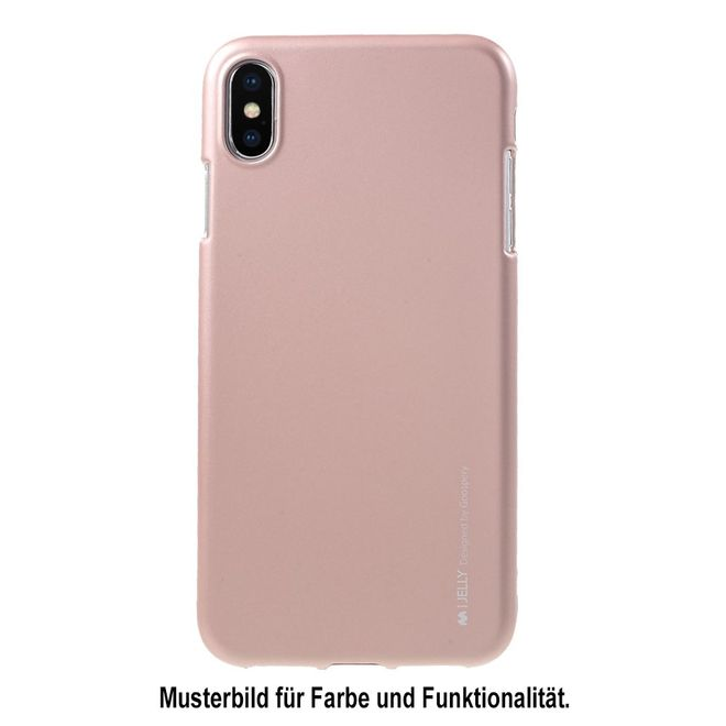 Goospery Goospery - Samsung Galaxy J6+ Handy Hülle - TPU Soft Case - i Jelly Metal Series - rosegold