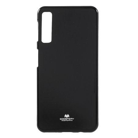 Mercury Goospery - Samsung Galaxy A7 (2018) Handy Hülle - Case aus elastischem Plastik - Pearl Jelly Series - schwarz