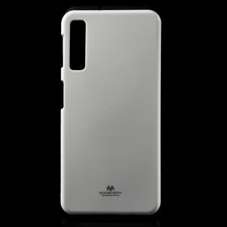Mercury Goospery - Samsung Galaxy A7 (2018) Handy Hülle - Case aus elastischem Plastik - Pearl Jelly Series - weiss