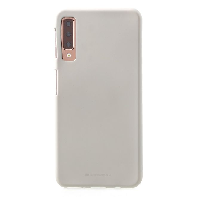 Goospery Goospery - Samsung Galaxy A7 (2018) Handy Cover - TPU Soft Case - SF Jelly Series - stone