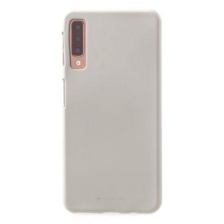 Mercury Goospery - Samsung Galaxy A7 (2018) Handy Cover - Softcase aus sanftem TPU Plastik - SF Jelly Series - stone