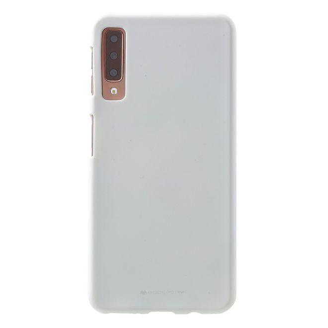 Goospery Mercury Goospery - Samsung Galaxy A7 (2018) Handy Cover - Softcase aus sanftem TPU Plastik - SF Jelly Series - weiss