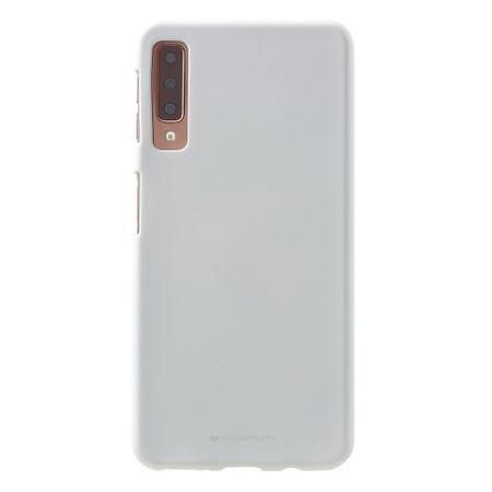 Mercury Goospery - Samsung Galaxy A7 (2018) Handy Cover - Softcase aus sanftem TPU Plastik - SF Jelly Series - weiss