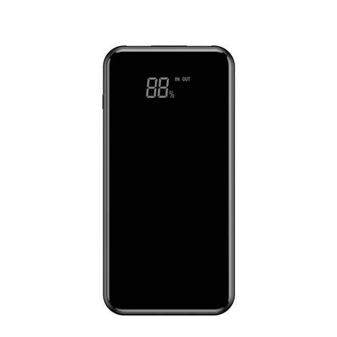 Baseus Baseus - Power Bank - 8000mAh - Qi Wireless Charging - mit Desktop Halterung - schwarz