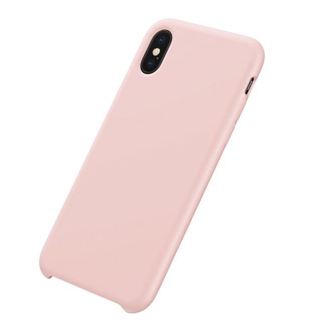 Baseus Baseus - iPhone XS Max Hülle - LSR Case mit seidig glatter Soft-Touch-Oberfläche - pink