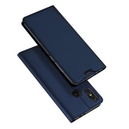Dux Ducis - Motorola One Hülle - Handy Bookcover - Skin Pro Series - blau