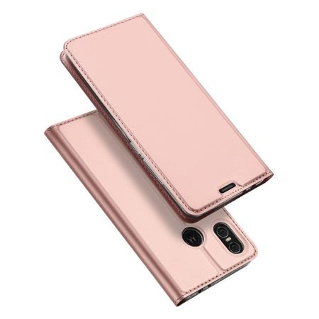 Dux Ducis - Motorola One Hülle - Handy Bookcover - Skin Pro Series - rosegold