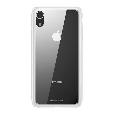 Baseus - iPhone XR Hülle - mit transparenter Glas Rückseite - See-Through Series - weiss