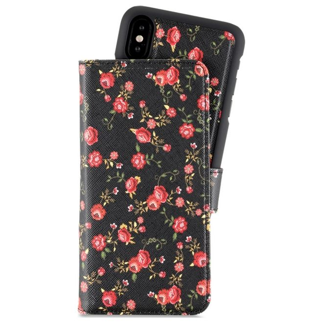 Holdit Holdit - iPhone XS / X Hülle Embroidered Flowers - abnehmbares Case - mehrfarbig