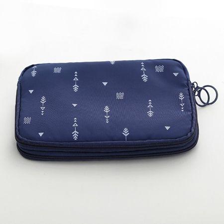 Wasserdichter Reiseorganizer – Tasche für Reiseunterlagen – dunkelblau
