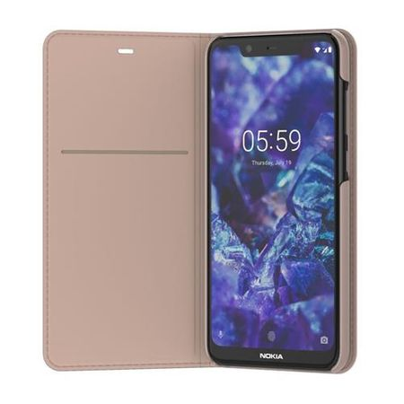 Nokia - Original Nokia 5.1 Plus Hülle - Book-Cover Entertainment Flip - CP-251 - creme