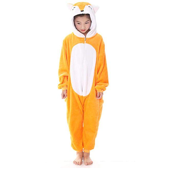 MU Classic Fuchs Kostüm - Onesie Fuchs - Pyjama Grösse S