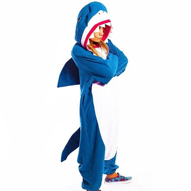 MU Classic Hai Kostüm - Onesie Hai - Pyjama Grösse S