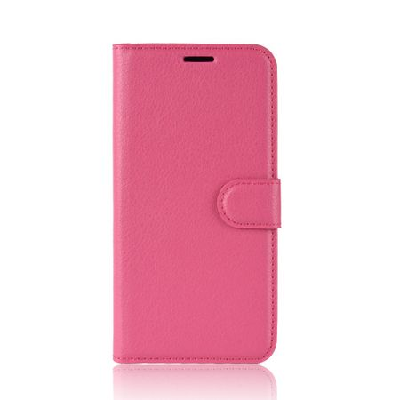 BlackBerry Key2 Handy Hülle - Litchi Leder Bookcover Series - rosa