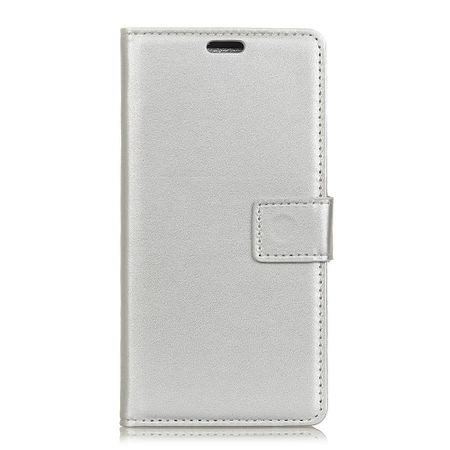 BlackBerry Key2 Handy Hülle - Classic II Leder Bookcover Series - silber