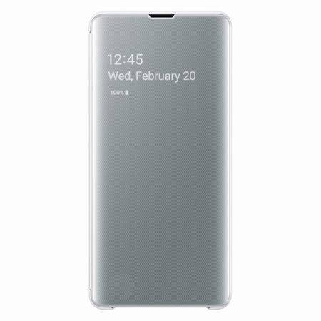 Samsung - Original Galaxy S10 Plus Hülle - Clear View Case - weiss