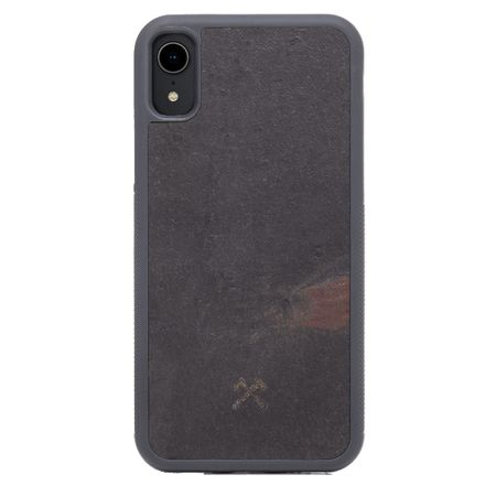 WOODCESSORIES - iPhone XR Hülle - Stone Edition - Volcano Black - mehrfarbig