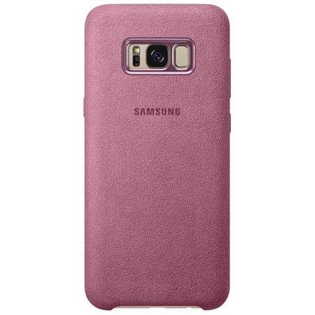 Samsung - Galaxy S8 Plus Case - Hülle aus Plastik - Alcantara Cover - EF-XG955APEGWW - pink