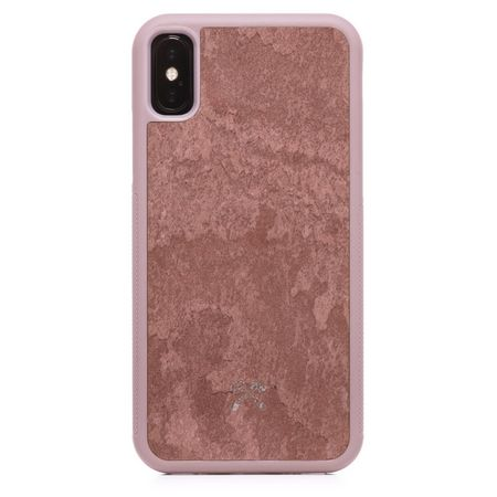 WOODCESSORIES - iPhone XS Max Hülle - Stone Edition - Canyon Red - mehrfarbig