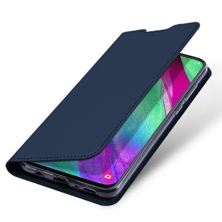 Dux Ducis - Samsung Galaxy A40 Hülle - Handy Bookcover - Skin Pro Series - blau