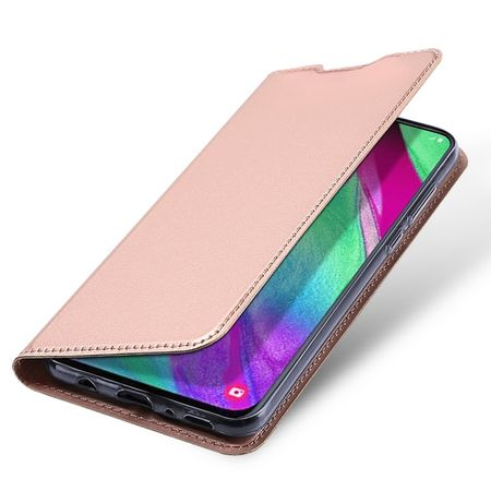 Dux Ducis - Samsung Galaxy A40 Hülle - Handy Bookcover - Skin Pro Series - rosa