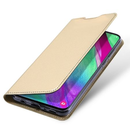 Dux Ducis - Samsung Galaxy A40 Hülle - Handy Bookcover - Skin Pro Series - gold