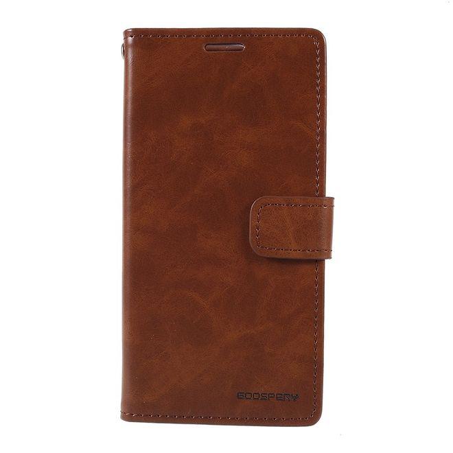 Goospery Goospery - Samsung Galaxy A40 Hülle - Leder Bookcover - Bluemoon Diary Series - braun
