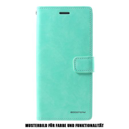 Goospery - Samsung Galaxy S10 5G Hülle - Leder Bookcover - Bluemoon Diary Series - mint