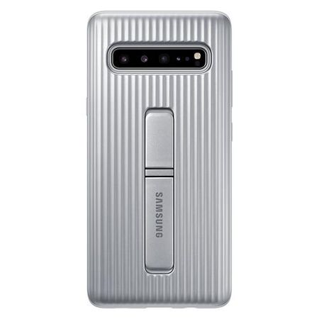 Samsung - Original Galaxy S10 5G Hülle - Protective Stand Cover - EF-RG977CSEGWW - silber