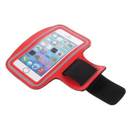 Fitness Sportarmband - passend für iPhone, Samsung Galaxy Handys, etc. - bis 5.5 Zoll - rot
