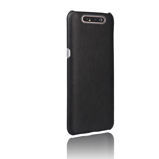 MU Classic Samsung Galaxy A80 Hülle - Crazy Horse Plastik Hardcase - schwarz