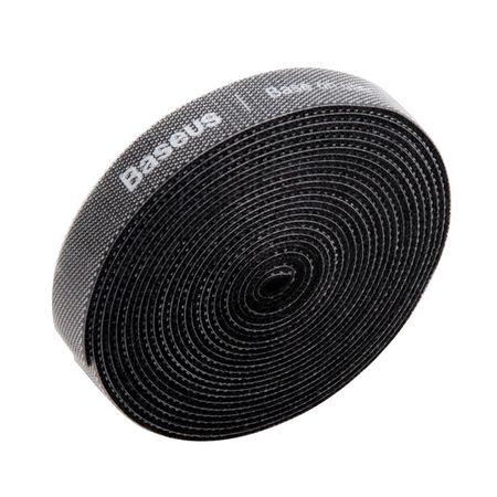 Baseus - Klettkabelbinder (3m) - Rainbow Circle Velcro Straps - schwarz